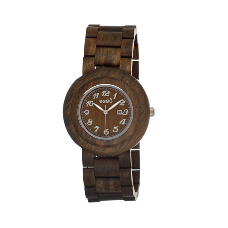 Mens & Ladies Olive Cambium Wood Watch