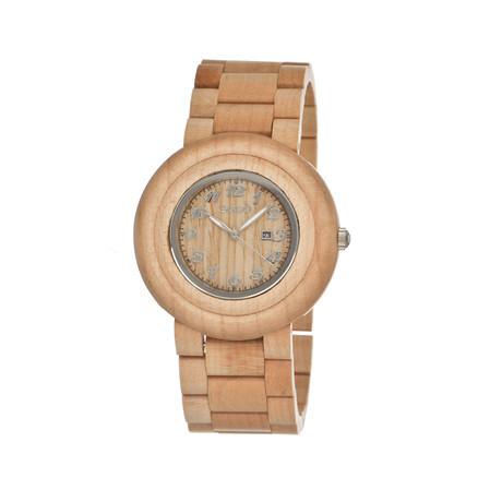 Mens & Ladies Khaki/Tan Cambium Wood Watch