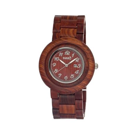 Mens & Ladies Brown Cambium Wood Watch