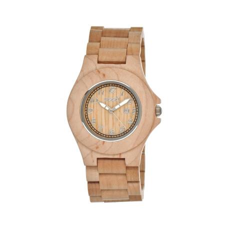 Mens & Ladies Khaki/Tan Xylem Wood Watch