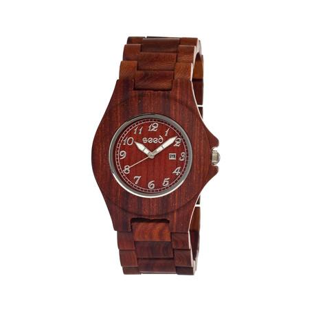 Mens & Ladies Brown Xylem Wood Watch