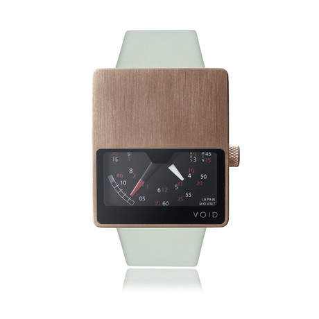 V02 // Copper Analogue + Leather Strap