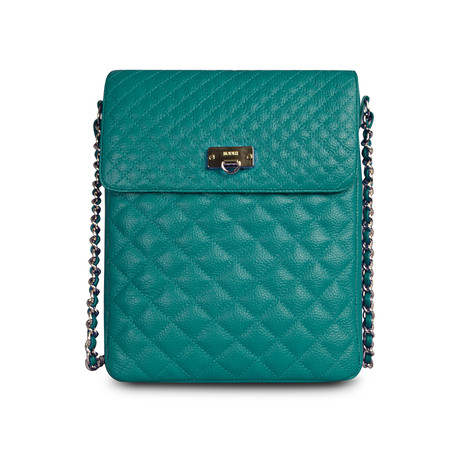 Quilted Crossbody for iPad // Emerald