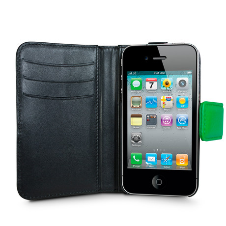 Rotating iPhone 4/4S Wallet // Electric Green