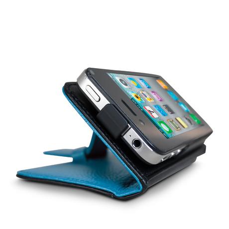 Rotating iPhone 4/4S Wallet // Cobalt