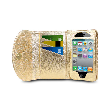Wristlet Wallet for iPhone 4/4S // Gold