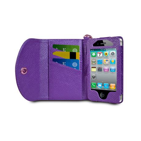 Wristlet Wallet for iPhone 4/4S // Violet