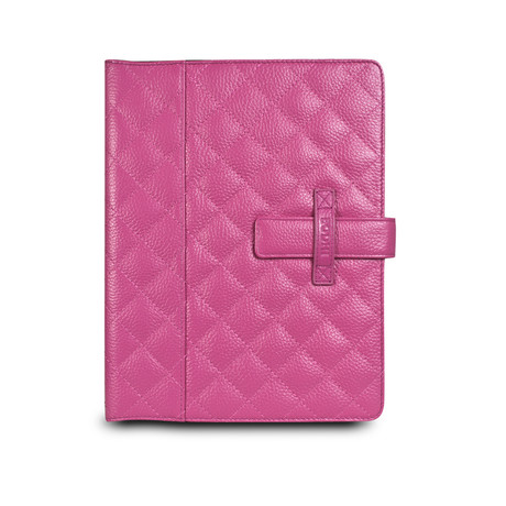 Quilted Tab Easel for iPad 2 & 3 // Fuchsia