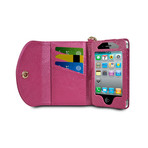 Wristlet Wallet for iPhone 4/4S // Berry
