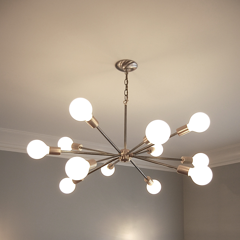 Sputnik Style Chandelier: Mid Century Sputnik Inspired Chandelier Southern Lights,Lighting
