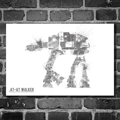 """Star Wars Vehicle // AT-AT Walker (16""""W x 12""""H)"""