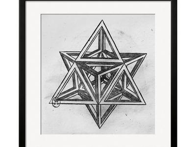 Leonardo Da Vinci Sketches The Art of a Beautiful Mind Leonardo Da Vinci // Stella Octangula, from