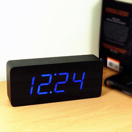 Slab Click Clock // Black