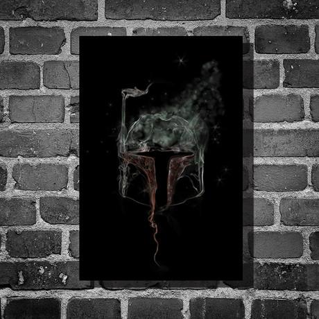"""Star Wars Smoke // Boba Fett (16""""L x 12""""H)"""