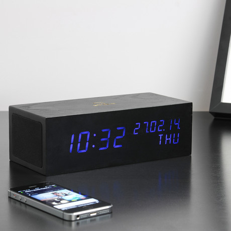 Music Click Clock // Black
