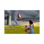 """Dorothy and the Tornado (15""""W x 10""""H)"""