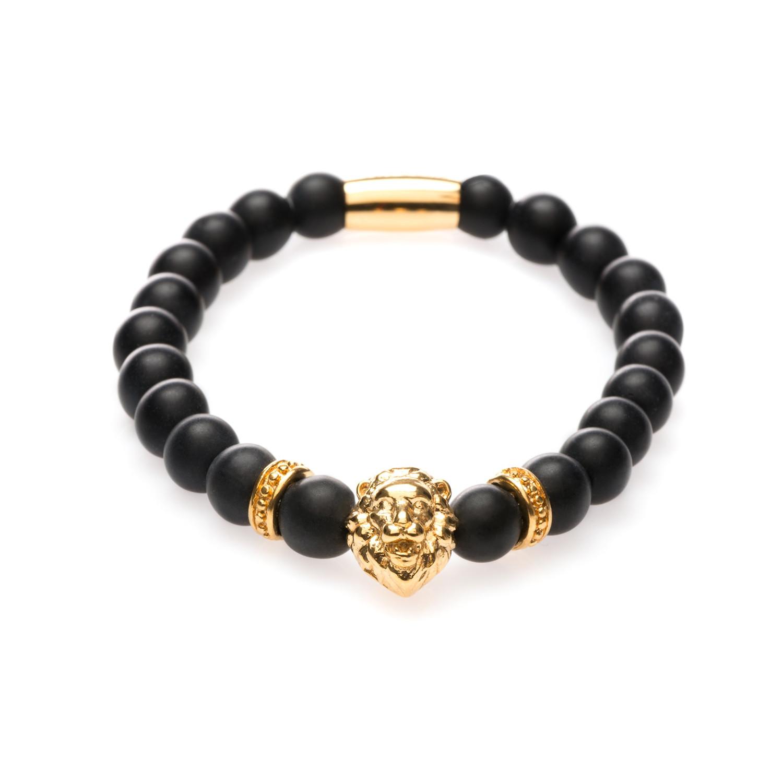 Matte Lion Bracelet (Gold)