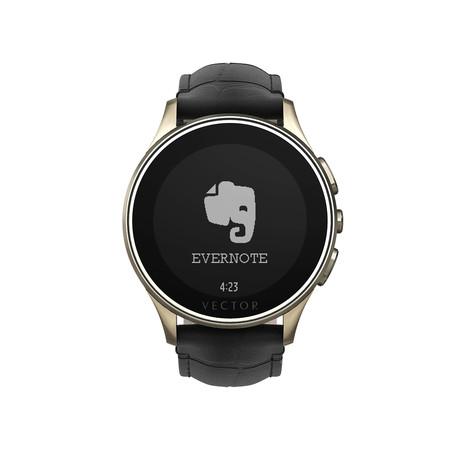 Luna Classic Digital Smart Watch // Champagne Gold + Black Croco Strap (Small Fit)