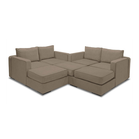 5 Series Sactionals M Lounger Taupe Lovesac Touch
