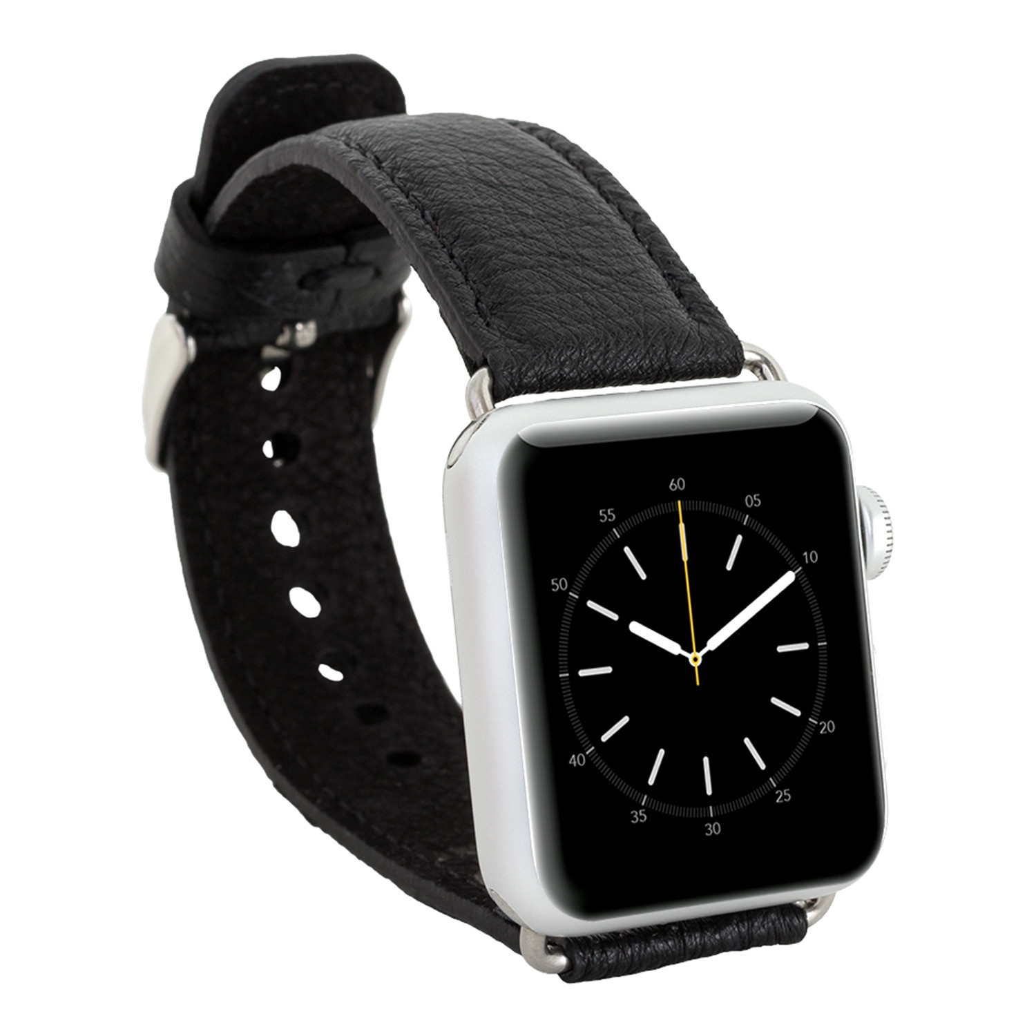 Ostrich Leather Apple Watch Band // Black (38mm)