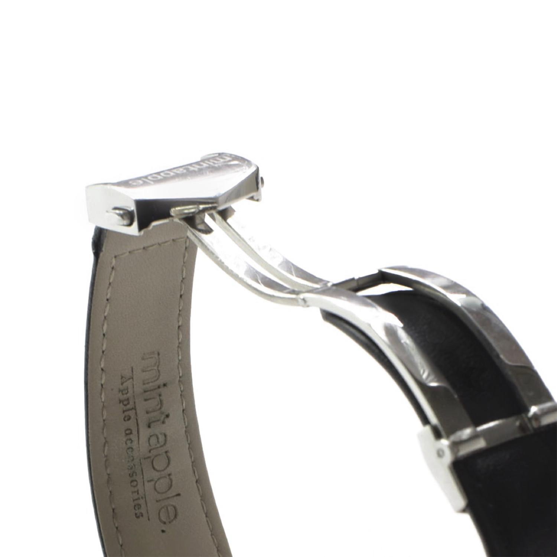 Crocodile Embossed Apple Watch Strap // Black (42mm ...
