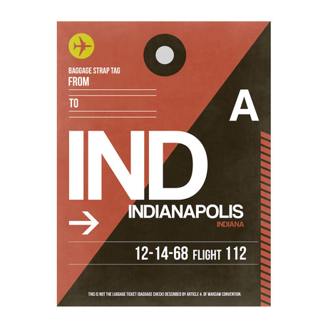 IND Indianapolis Luggage Tag