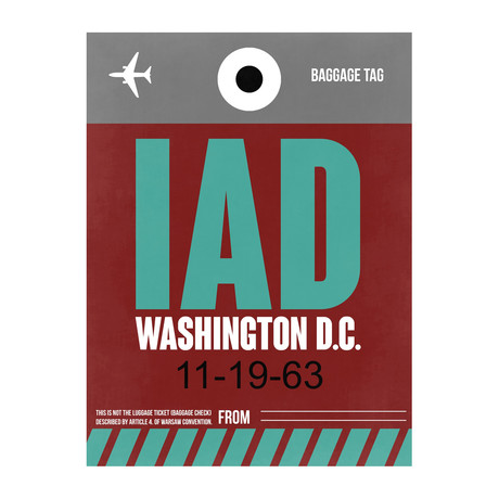 IAD Washington, D.C. Luggage Tag