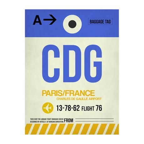 CDG Paris Luggage Tag