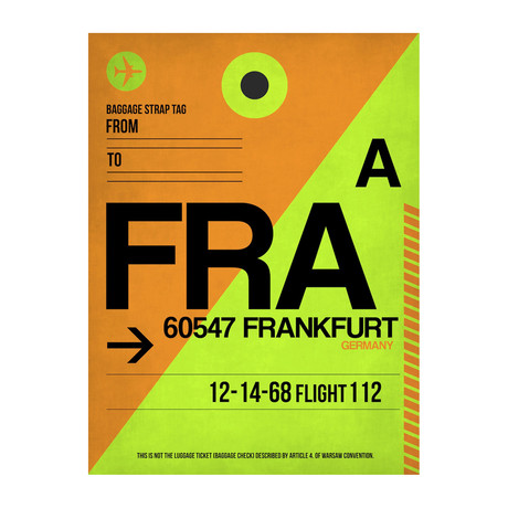 FRA Frankfurt Luggage Tag