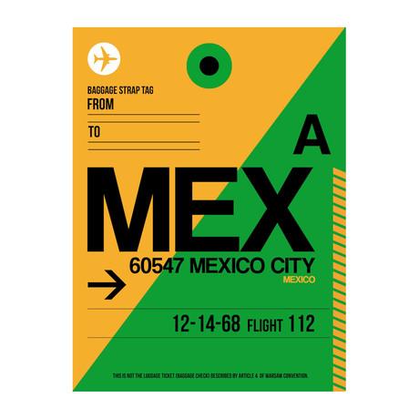 MEX Mexico City Luggage Tag